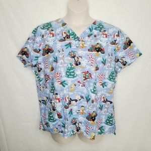 Looney Tunes Christmas Holiday Gifts Scrubs